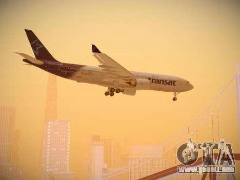 Airbus A330-200 Air Transat para visión interna GTA San Andreas