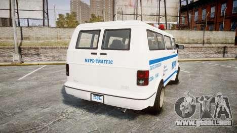 GTA V Bravado Youga NYPD para GTA 4 Vista posterior izquierda