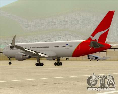 Boeing 767-300ER Qantas para vista lateral GTA San Andreas