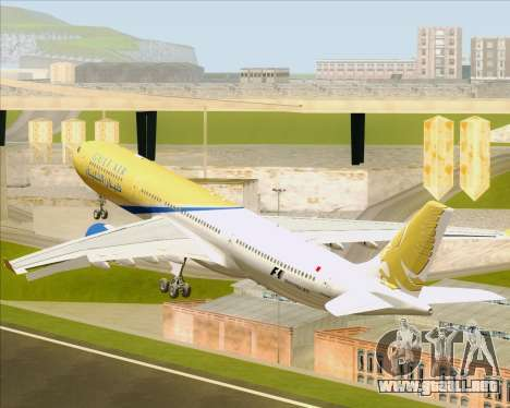 Airbus A330-300 Gulf Air para vista inferior GTA San Andreas