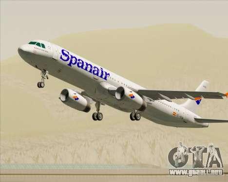 Airbus A321-231 Spanair para las ruedas de GTA San Andreas
