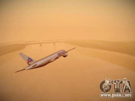 Boeing 777-223ER American Silver Bullet para visión interna GTA San Andreas