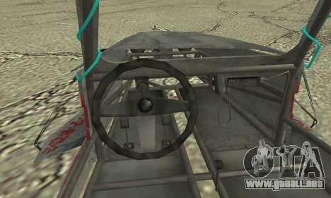 Space Docker from GTA V para GTA San Andreas vista posterior izquierda