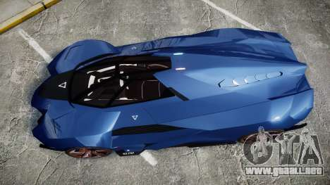 Lamborghini Egoista para GTA 4 visión correcta