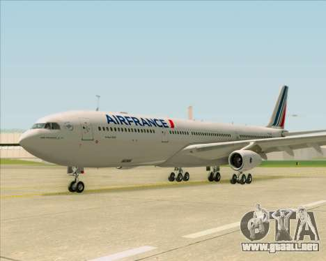 Airbus A340-313 Air France (New Livery) para visión interna GTA San Andreas