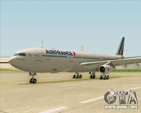 Airbus A340-313 Air France (New Livery) para visión interna GTA San Andreas