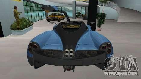 Pagani Huayra 2012 para GTA Vice City left
