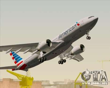 Airbus A330-200 American Airlines para la vista superior GTA San Andreas