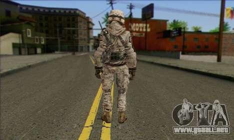 Task Force 141 (CoD: MW 2) Skin 5 para GTA San Andreas segunda pantalla