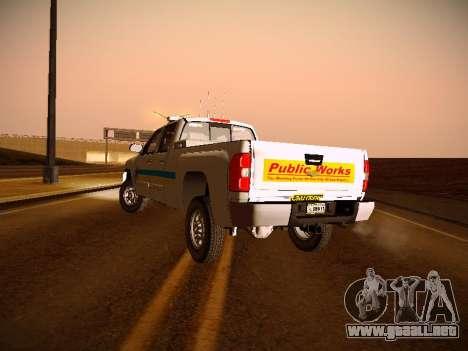 Chevrolet Silverado 2500HD Public Works Truck para visión interna GTA San Andreas