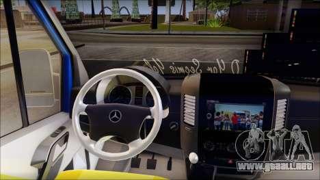 Mercedes-Benz Sprinter Dolmus para la visión correcta GTA San Andreas