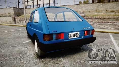 Fiat 147 Spazio-TR para GTA 4 Vista posterior izquierda