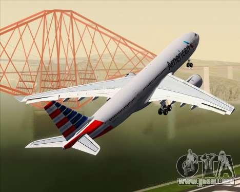 Airbus A330-200 American Airlines para las ruedas de GTA San Andreas