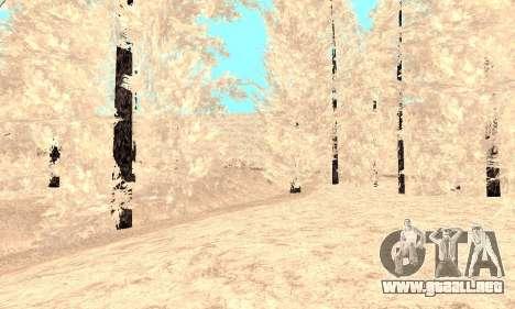 Nieve para GTA Penal de Rusia beta 2 para GTA San Andreas octavo de pantalla