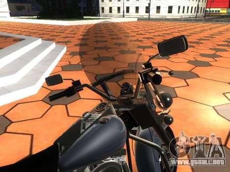 Harley Davidson Road King para GTA San Andreas vista hacia atrás