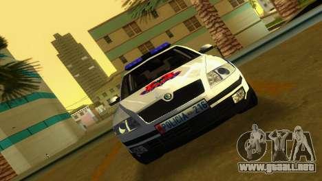 Skoda Octavia Albanian Police Car para GTA Vice City vista lateral izquierdo
