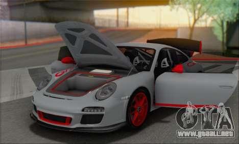 Porsche 911 GT3 2010 para vista inferior GTA San Andreas