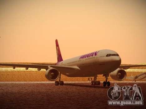 Airbus A330-200 Hawaiian Airlines para GTA San Andreas left