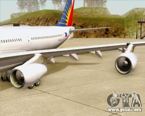 Airbus A340-313 Philippine Airlines para las ruedas de GTA San Andreas