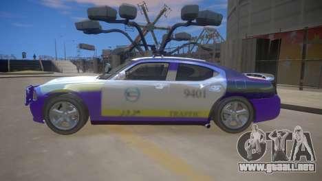 Dodge Charger Kuwait Police 2006 para GTA 4 vista hacia atrás