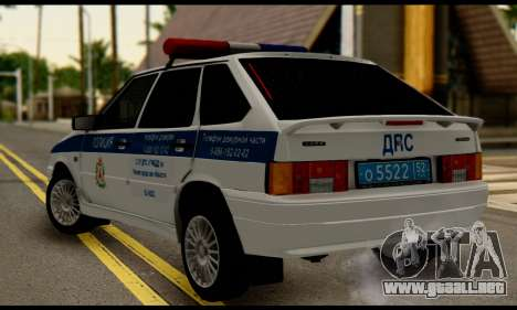 VAZ 2114 DPS para GTA San Andreas left