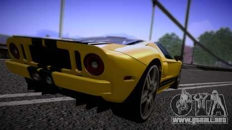 Ford GT 2005 Road version para la visión correcta GTA San Andreas