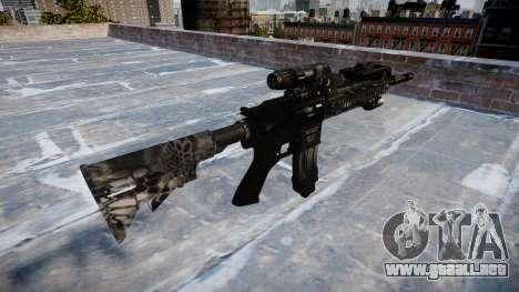 Automatic rifle Colt M4A1 kryptek tifón para GTA 4 segundos de pantalla