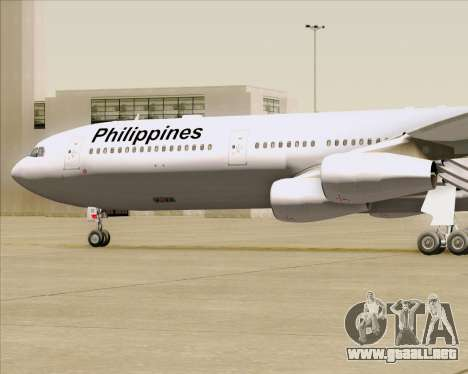 Airbus A340-313 Philippine Airlines para la vista superior GTA San Andreas
