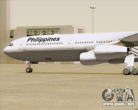 Airbus A340-313 Philippine Airlines para la vista superior GTA San Andreas