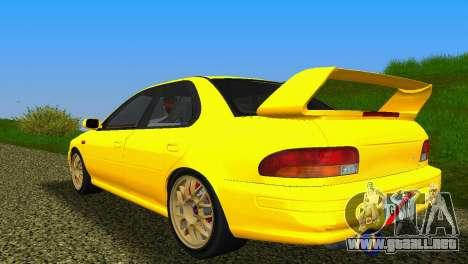 Subaru Impreza WRX STI GC8 Sedan Type 1 para GTA Vice City visión correcta