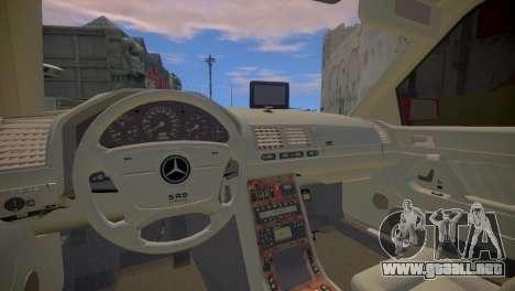 Mercedes-Benz S600 W140 para GTA 4 vista interior