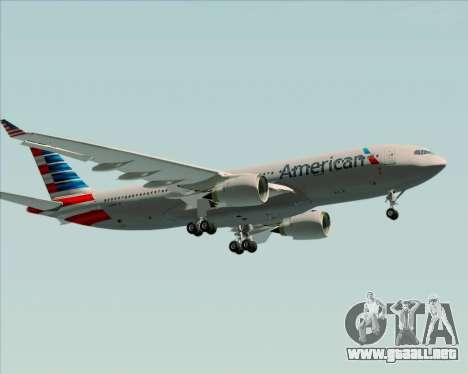 Airbus A330-200 American Airlines para visión interna GTA San Andreas