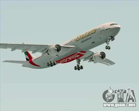 Airbus A330-300 Emirates para visión interna GTA San Andreas