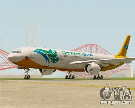 Airbus A330-300 Cebu Pacific Air para GTA San Andreas left