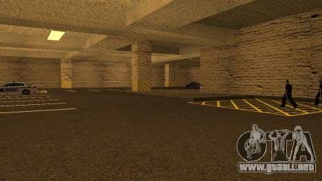 Nuevas texturas de Aparcamiento en la LSPD para GTA San Andreas sucesivamente de pantalla