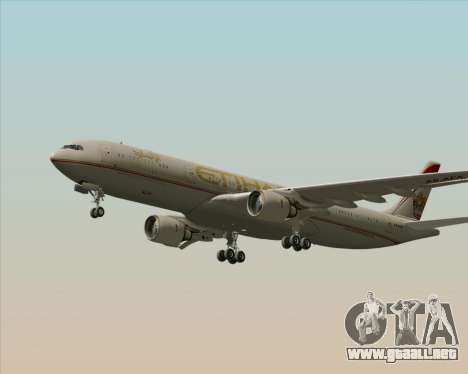 Airbus A330-300 Etihad Airways para visión interna GTA San Andreas