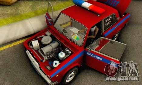 VAZ 2107 Policía para visión interna GTA San Andreas
