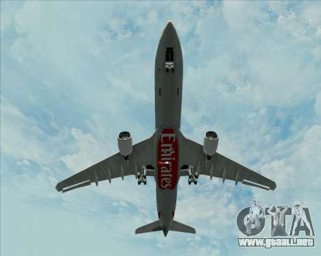 Airbus A330-300 Emirates para vista lateral GTA San Andreas