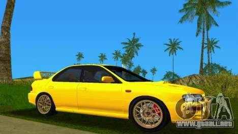 Subaru Impreza WRX STI GC8 Sedan Type 1 para GTA Vice City vista lateral izquierdo