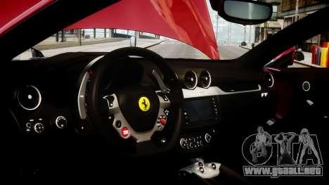 Ferrari FF 2011 v1.5 para GTA 4 vista hacia atrás