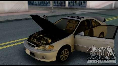 Honda Civic Si 1999 para vista inferior GTA San Andreas