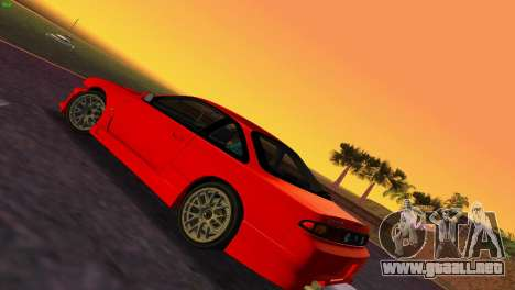 Nissan Silvia S14 RB26DETT Black Revel para GTA Vice City vista lateral izquierdo