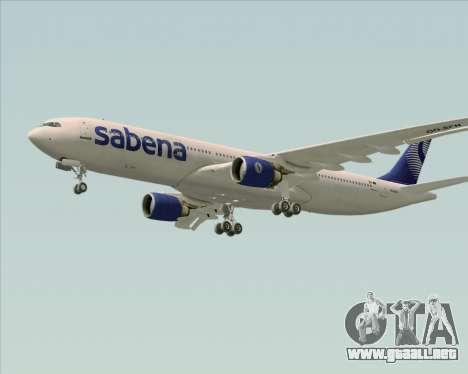 Airbus A330-300 Sabena para visión interna GTA San Andreas