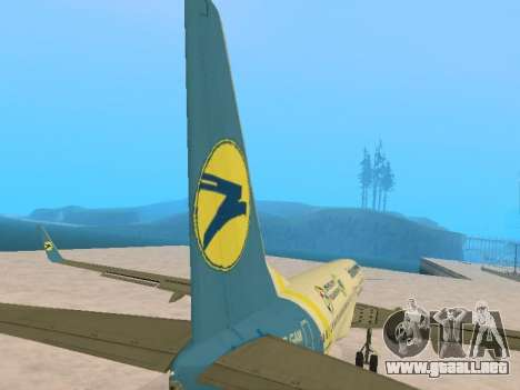 Boeing 737-84R Ukraine International Airlines para la vista superior GTA San Andreas