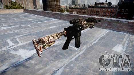 Automatic rifle Colt M4A1 zombies para GTA 4 segundos de pantalla