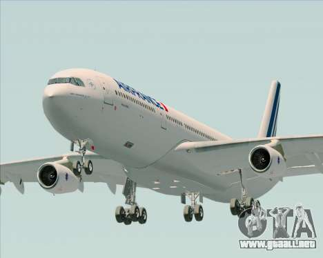 Airbus A340-313 Air France (New Livery) para GTA San Andreas vista hacia atrás