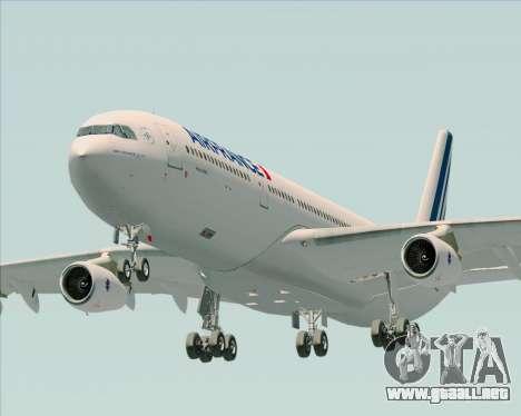 Airbus A340-313 Air France (New Livery) para GTA San Andreas vista hacia atrás
