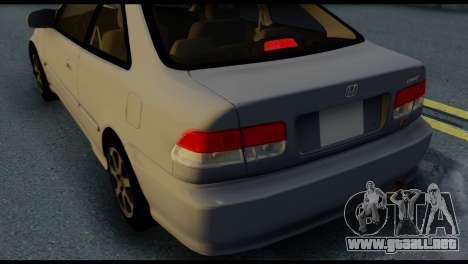 Honda Civic Si 1999 para la vista superior GTA San Andreas
