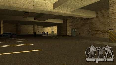 Nuevas texturas de Aparcamiento en la LSPD para GTA San Andreas tercera pantalla