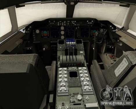 Boeing 747-8 Cargo House Livery para GTA San Andreas interior